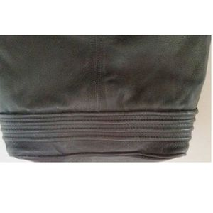 "Unbrand Bags - Large Black Leather Purse Satchel 12"" x 15"" x 5"""